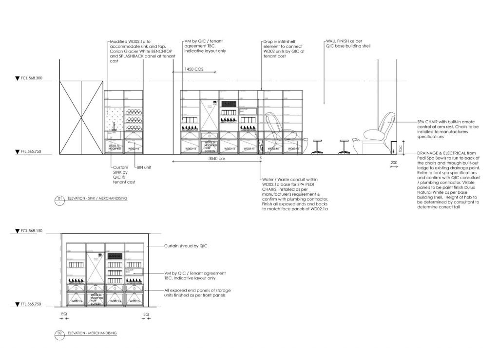 interior design construction drawing