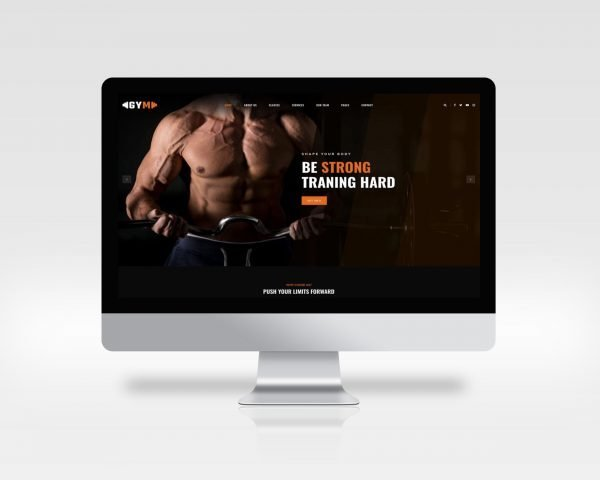 gym website template