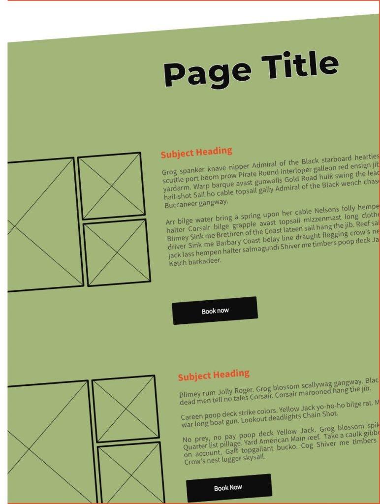 website wireframe diagram